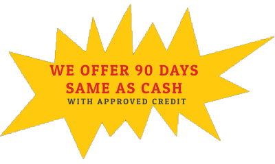 if you need to put with approved credit - you can!